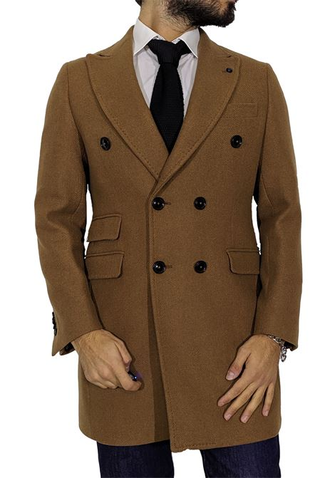 Double-breasted coat Barbati Tony cognac BARBATI | Coats | 862 TONY13