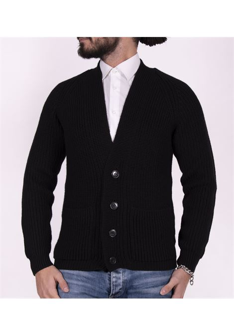 Brian Dales g746 black cardigan sweater BRIAN DALES | Sweaters | KN2962006