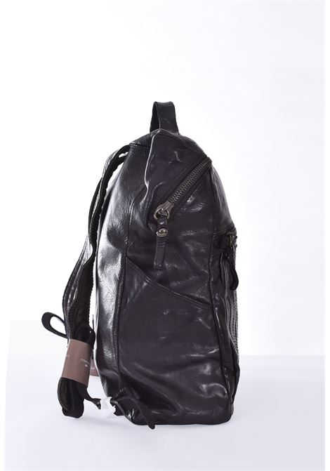 Black campomaggi Alessandro backpack with stitching pocket CAMPOMAGGI | Bags | C023460ND/X0001C0001