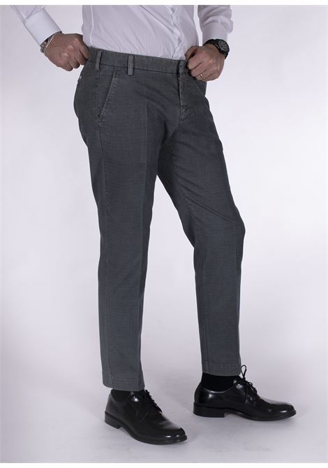 Entre Amis gray micro-patterned trousers ENTRE AMIS | Trousers | A218188/20211