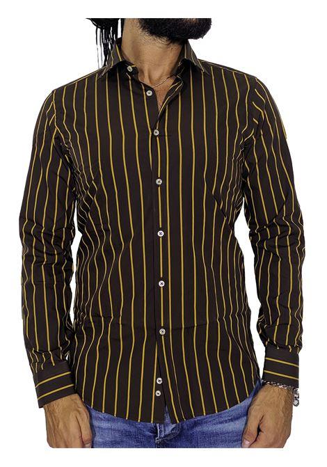 Camicia gmf righe marrone GMF965 | Camicie | 90221801