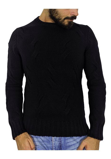 Maglione Gran Sasso cashmere lana nero GRAN SASSO | Maglie | 1018819689099