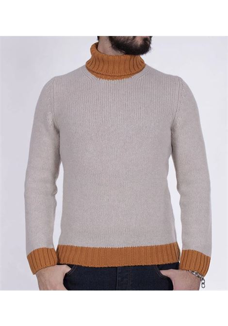 Gran Sasso two-tone beige-orange turtleneck GRAN SASSO | Sweaters | 1314222616020