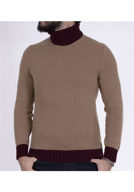Gran Sasso two-tone beige brown turtleneck GRAN SASSO | Sweaters | 1314222616116