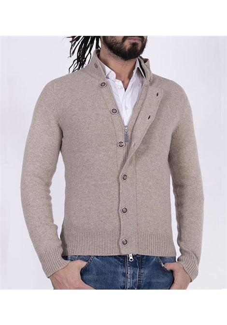 Cardigan Gran Sasso collo alto beige GRAN SASSO | Cardigan | 2317025025010