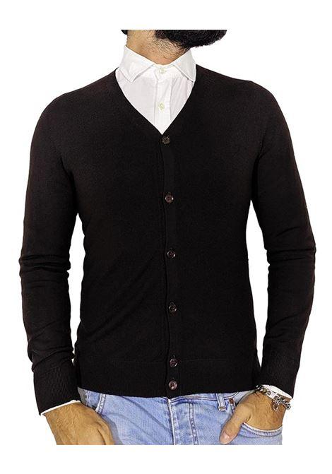 Brown wool men's cardigan GRAN SASSO   Cardigans   5416814190195