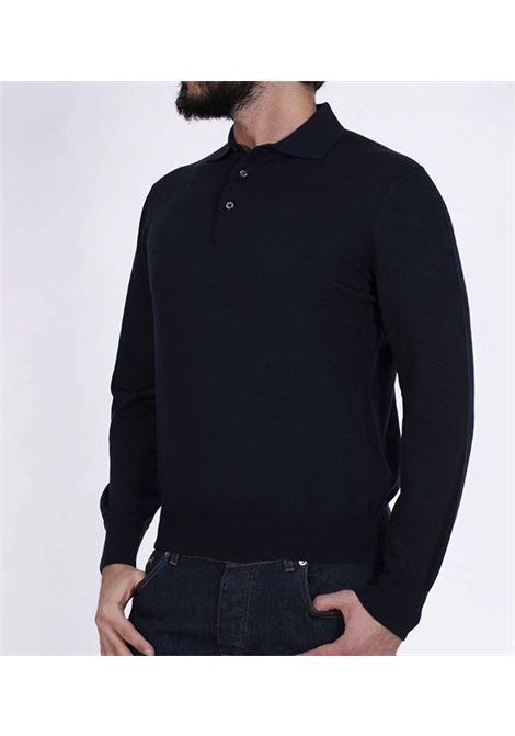 Gran Sasso blue tennis polo shirt GRAN SASSO | Sweaters | 5511214200598