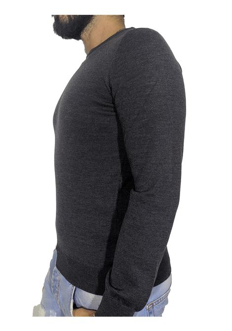 maglia paricollo lana grigio GRAN SASSO | Maglie | 55167/14290098