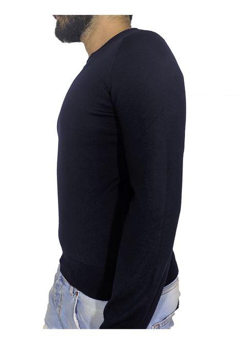 maglia paricollo lana blu GRAN SASSO | Maglie | 55167/14290598