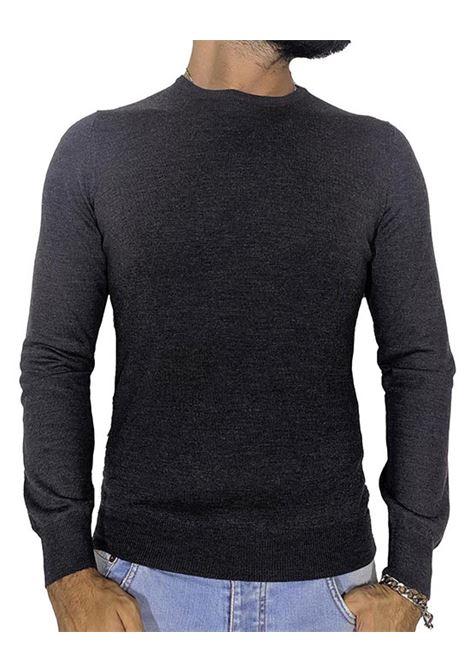 gray wool round neck sweater GRAN SASSO | Sweaters | 5516714290098