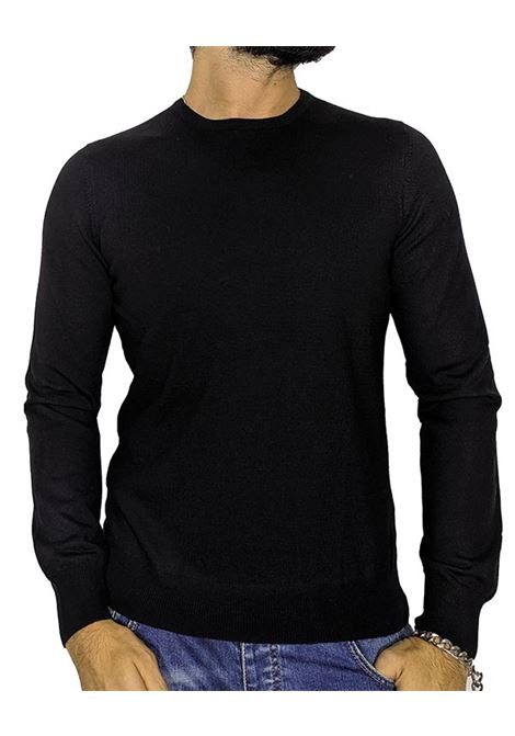 Black wool pullover sweater GRAN SASSO | Sweaters | 5516714290099