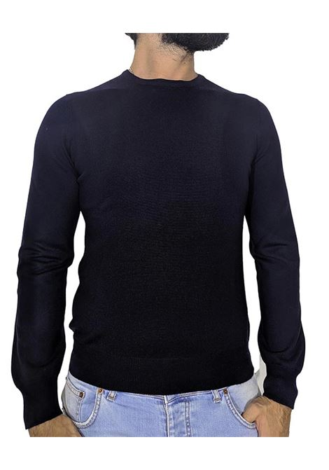 wool round neck sweater blue GRAN SASSO | Sweaters | 5516714290598