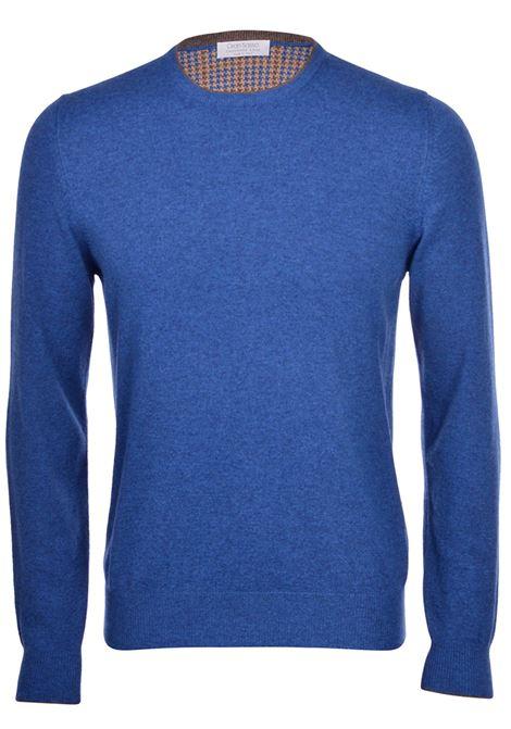 maglia gran sasso misto cashmere blu GRAN SASSO | Maglie | 55168 19625560