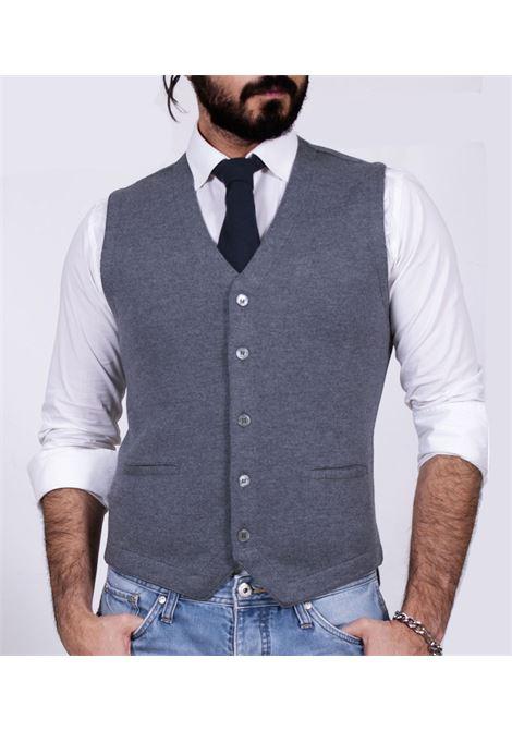 Gran Sasso gilet gray jersey GRAN SASSO | Cardigans | 5617014252088