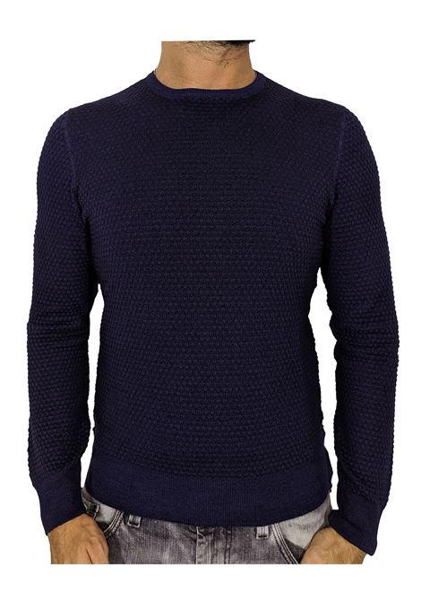 Gran Sasso vintage blue honeycomb sweater GRAN SASSO | Sweaters | 57108/22751905