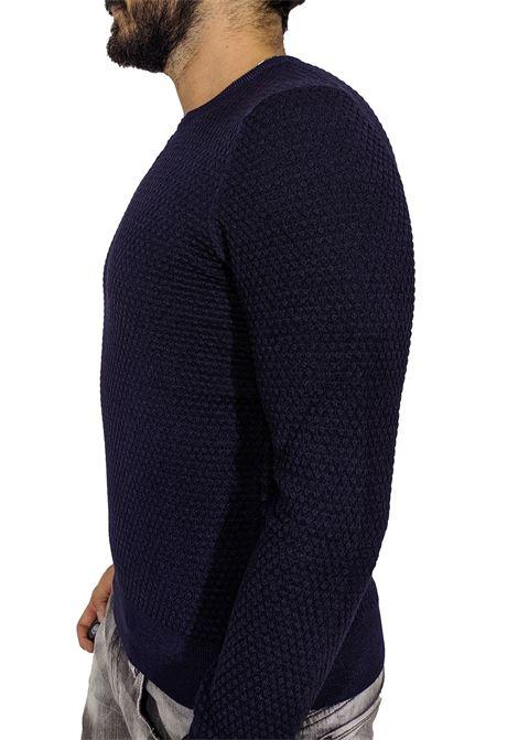 Gran Sasso vintage blue honeycomb sweater GRAN SASSO   Sweaters   57108/22751905