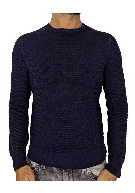 Gran Sasso vintage blue honeycomb sweater GRAN SASSO | Sweaters | 5710822751905