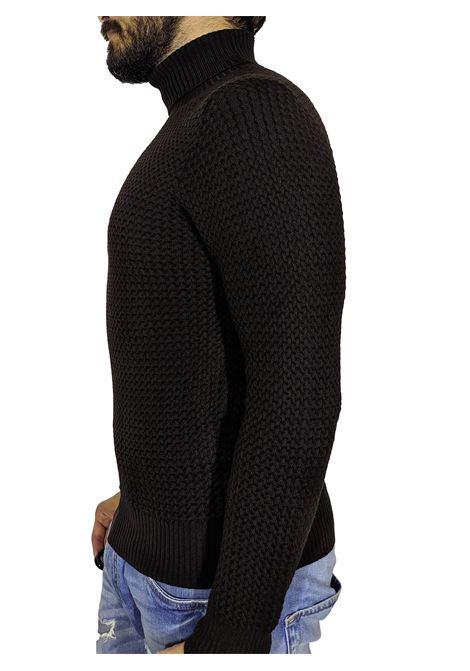 turtleneck gran sasso brown sweater GRAN SASSO | Sweaters | 5715714280195