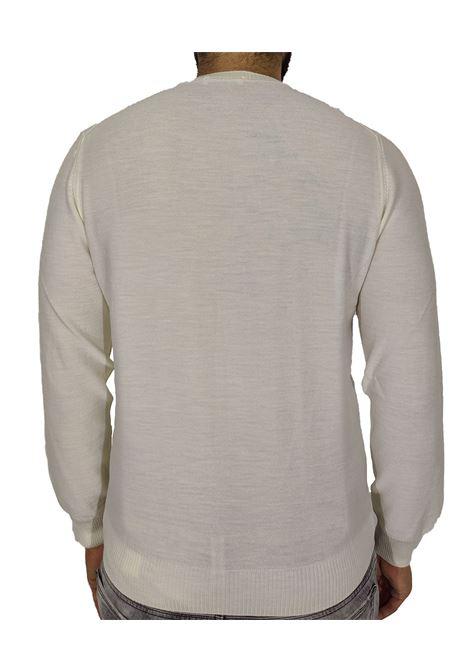 Gran sasso white rhombus sweater GRAN SASSO | Sweaters | 57166/14238005