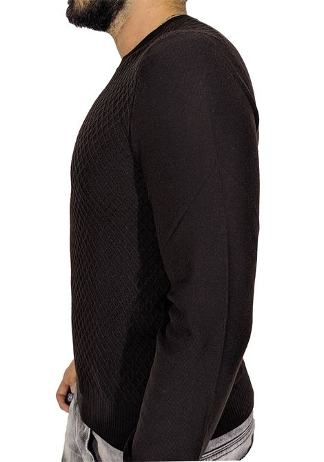 Gran sasso brown rhombus sweater GRAN SASSO   Sweaters   57166/14238195
