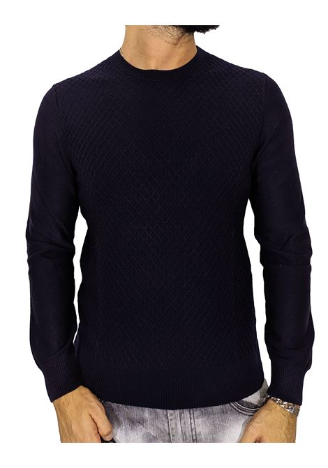 Gran sasso blue rhombus sweater GRAN SASSO | Sweaters | 57166/14238598