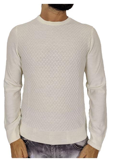 Gran sasso white rhombus sweater GRAN SASSO | Sweaters | 5716614238005