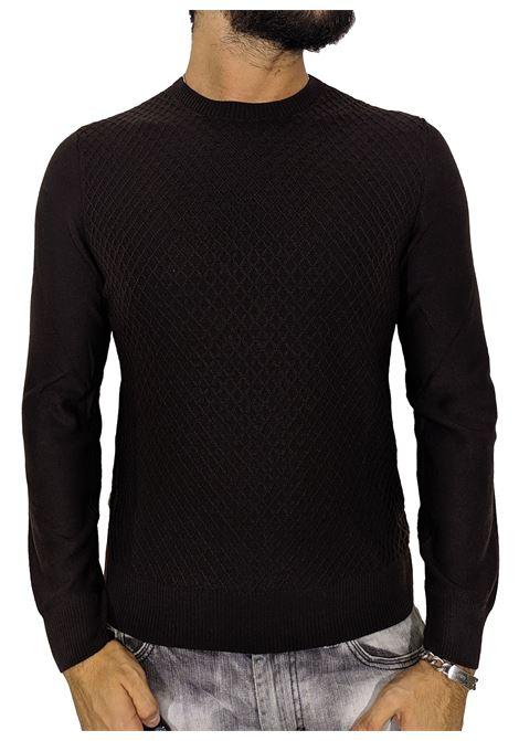 Gran sasso brown rhombus sweater GRAN SASSO | Sweaters | 5716614238195
