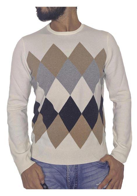Cream wool cashmere pullover GRAN SASSO |  | 59110/19681001