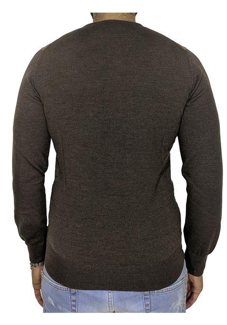 Gran sasso brown rhombus sweater GRAN SASSO | Sweaters | 5916914232186