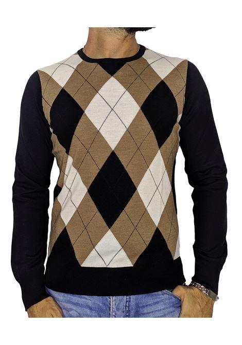 Gran sasso black rhombus sweater GRAN SASSO | Sweaters | 5916914232099