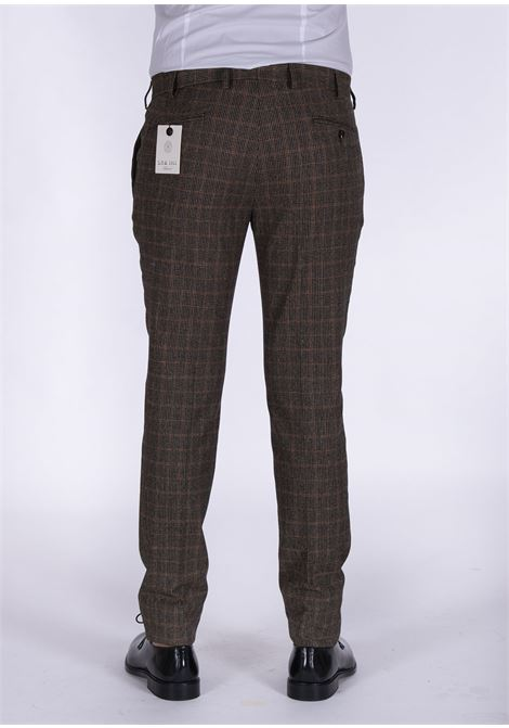 Pantalone L.B.M. 1911 quadri blu ruggine L.B.M. 1911 by Lubiam | Pantaloni | 2059 84202