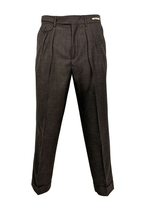 LBM 1911 wide brown trousers L.B.M. 1911 by Lubiam | Trousers | 3054 81652