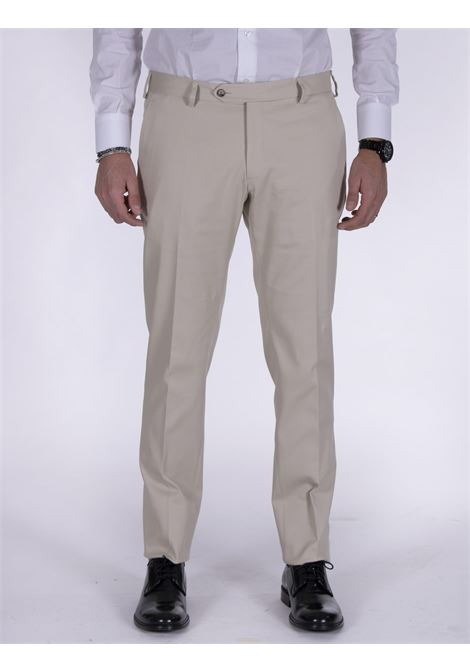 LBM 1911 slim beige cotton trousers L.B.M. 1911 by Lubiam | Trousers | 4308 84202