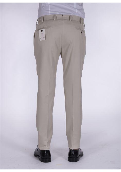 LBM 1911 slim beige cotton trousers L.B.M. 1911 by Lubiam | Trousers | 4308 84202
