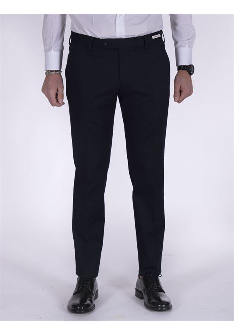 LBM 1911 slim dark blue cotton trousers L.B.M. 1911 by Lubiam | Trousers | 4308 84208