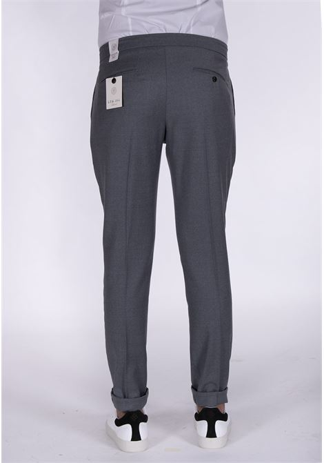 LBM 1911 gray drawstring trousers L.B.M. 1911 by Lubiam   Trousers   4313 84071