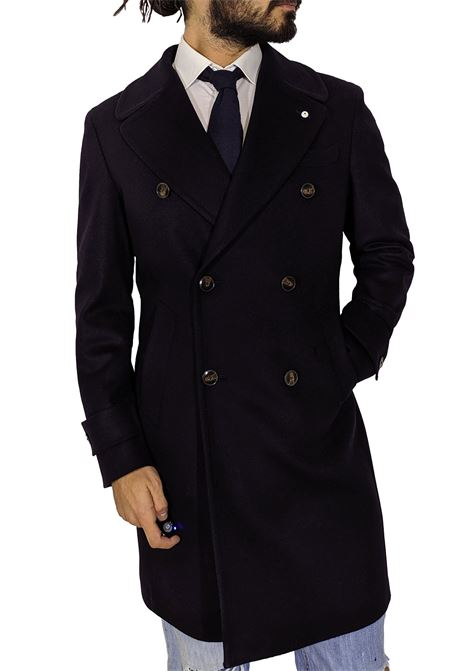 double-breasted coat LBM blue wool cashme L.B.M. 1911 by Lubiam | Coats | 516 74891