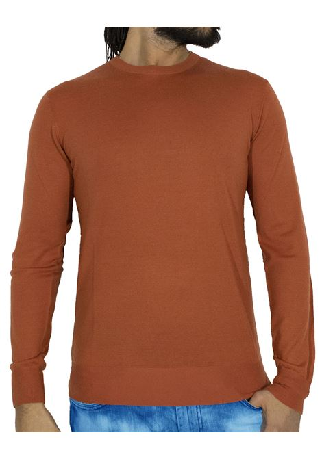 LBM 1911 thin orange wool sweater L.B.M. 1911 by Lubiam | Sweaters | 6350 95101