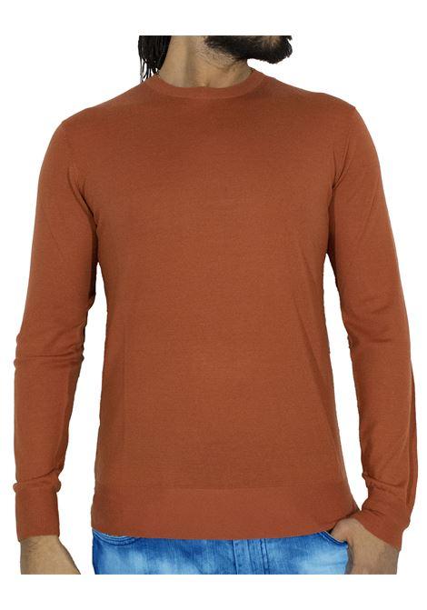 Maglia LBM 1911 lana sottile arancione L.B.M. 1911 by Lubiam | Maglie | 6350 95101
