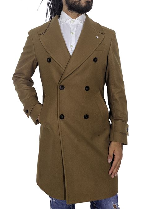Camel lbm double-breasted coat L.B.M. 1911 by Lubiam | Coats | 7053 74894