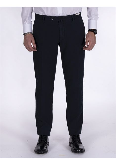 LBM 1911 slim blue micro-check trousers L.B.M. 1911 by Lubiam | Trousers | 8425 51745