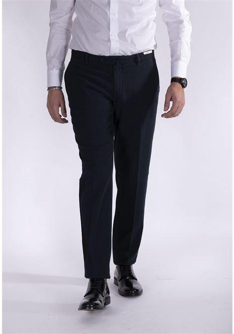 Pantalone LBM 1911 slim microquadri blu L.B.M. 1911 by Lubiam | Pantaloni | 8425 51745