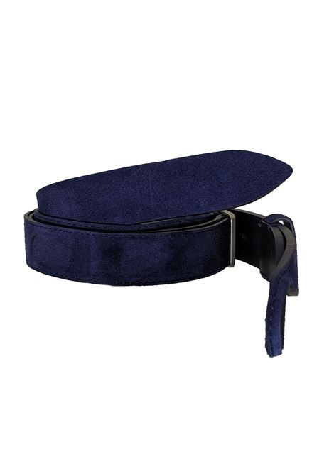 Belt Orciani NoBuckle suede blue ORCIANI | Belts | NB006006
