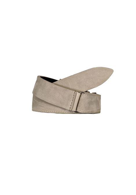 Orciani NoBuckle men's ivory suede belt ORCIANI | Belts | NB006037
