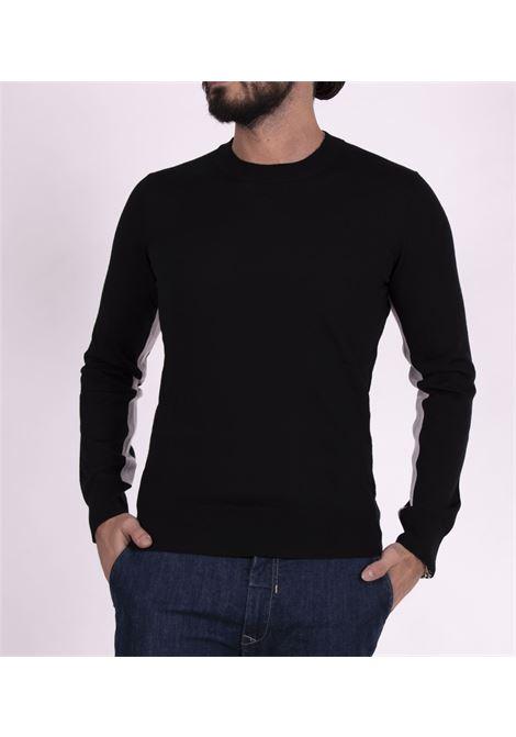 Paolo pecora black crewneck sweater PAOLO PECORA | Sweaters | A011F0019000