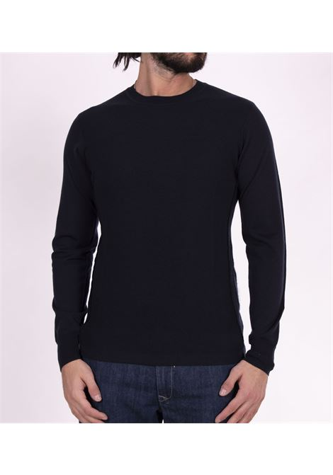 Paolo Pecora blue shirt with contrasting sleeves PAOLO PECORA | Sweaters | A014F0016462
