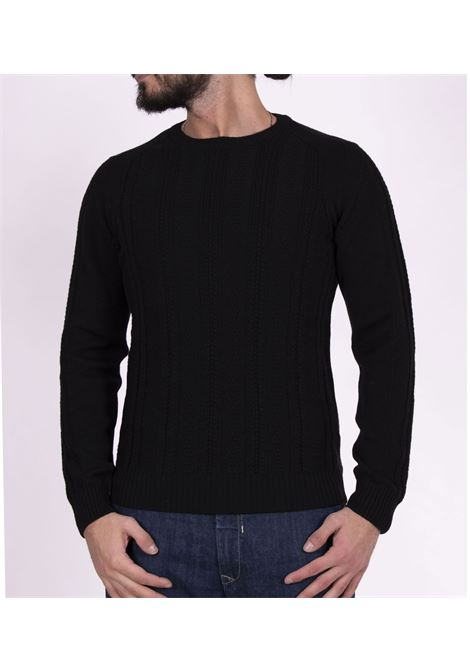 Paolo Pecora black striped sweater PAOLO PECORA | Sweaters | A06270129000