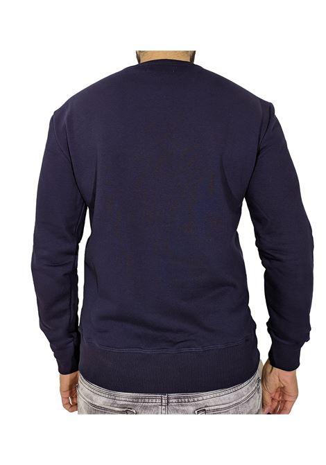 Felpa PMDS hijiri blu con logo Premium Mood Denim Superior | Felpe | HIJIRI1