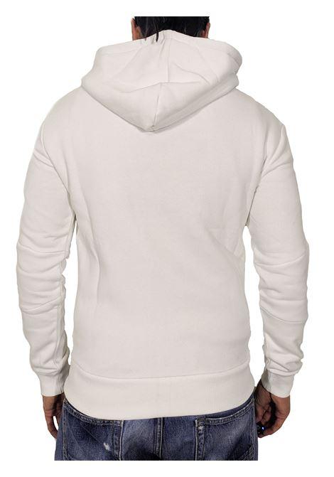 Felpa PMDS bianca invisible fleece Premium Mood Denim Superior | Felpe | INVISIBLE FLEECE01