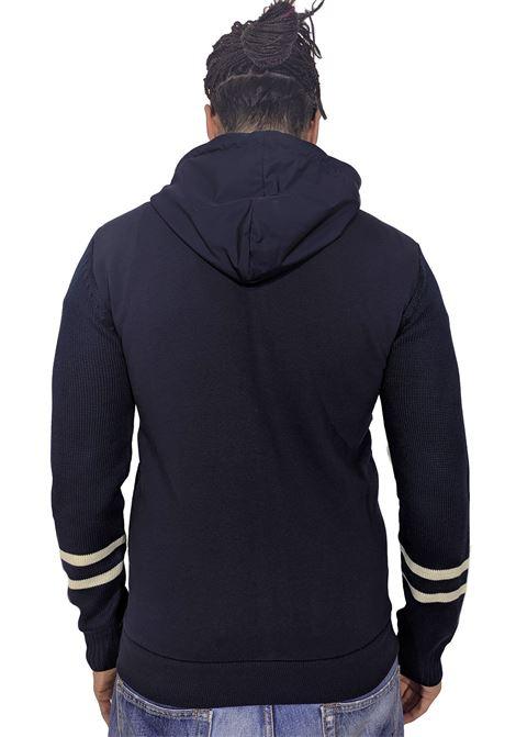 Felpa maglia PMDS blu Soji Premium Mood Denim Superior   Felpe   SOJI1